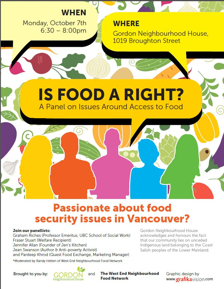IS FOOD A RIGHT? A Panel on Issues Around Access to Food – GNH, Oct ...
